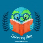 Logo - Literacy Day designed by Freepix.com