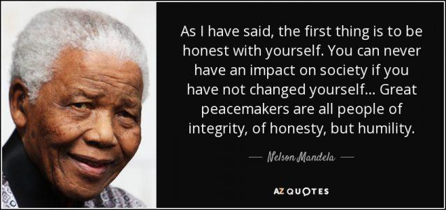 BeTruthful-Nelson Mandela Quote